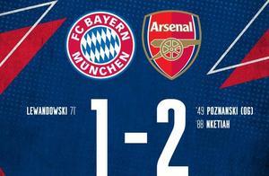 国际冠军杯-奥巴梅扬造乌龙恩凯蒂亚绝杀 阿森纳2-1拜仁