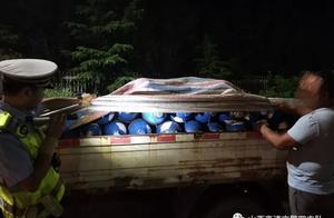 非法运输液化氧气罐,高速交警及时查获除隐患
