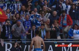 西甲第3球!武磊疯狂脱衣庆祝,西班牙人8分钟2球打爆对手