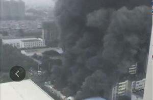 西安矿山路附近一工厂发生火灾 明火已得到控制 无人员伤亡