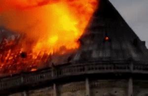 宝贝,你看到巴黎圣母院被烧?可记得中国圆明园被毁?