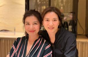 59岁红姑和袁咏仪夫妇聚餐,状态不输48岁靓靓,却被指撞脸陈妍希