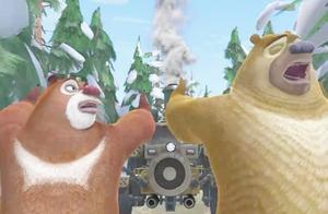 熊出没:光头强开着砍树机砍树,自己还不承认砍树,真是无耻