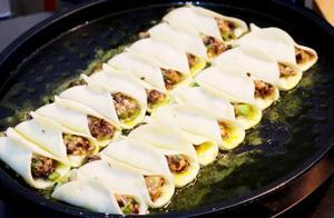 脆皮锅贴,色泽金黄味香酥脆,教你用最简单的方法在家做,特划算