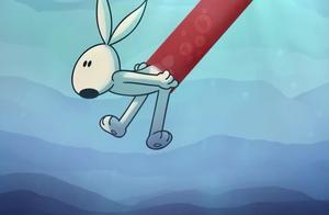 菜包狗大海历险,被管道吸入,从大海来到了兔子的家里