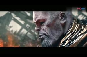 漫威:复仇者联盟4:终局之战,雷神斧VS灭霸!_超清