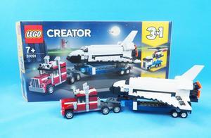 乐高搭建:乐高创意百变31091的A模式,航天飞机运输卡车