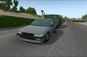 BeamNG:高速公路的真实车祸事故,细节还原模拟