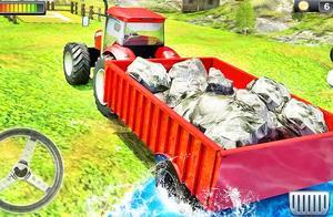 卡通拖拉机运输闯关小游戏