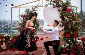 恭喜!百米飞人张培萌成功求婚张漠寒 跑道上铺满鲜花现场超浪漫