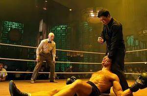 叶问对着拳王脸部暴打,打的拳王倒地不起,为中国武术争光