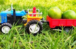 卡通拖拉机奇趣运输水果小游戏