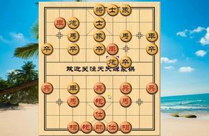 象棋:中炮破反宫马,直接进车压马的布局陷阱,局面很常见,实用