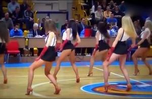 男人的天堂,一饱眼福啊,俄罗斯啦啦队现场表演