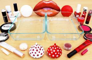 把白色和红色过期化妆品混在无硼砂水晶泥里,你更喜欢哪种?