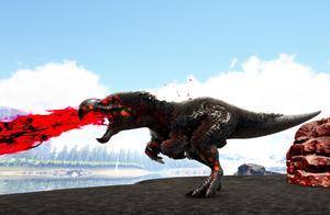 方舟生存进化 盖亚恐惧40 驯服黑暗嘟嘟霸王龙!最强的霸王龙
