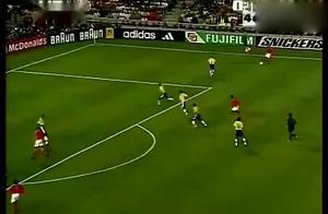 怀念巨星,罗纳尔多98世界杯巴西对荷兰惊艳时刻,带球一阵风