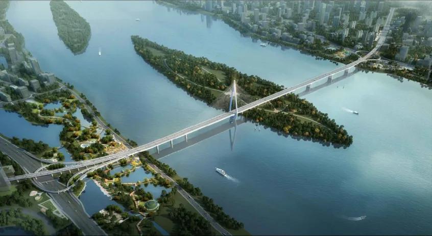 湖北造!湘江跨度最大的独塔斜拉桥开工
