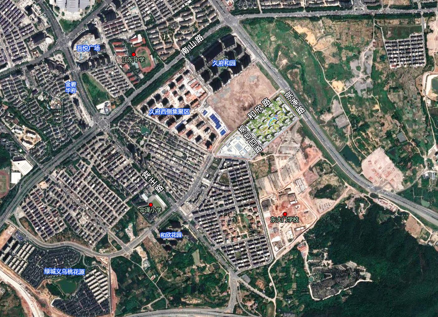 40.59亿拿地,21栋高层、邻里中心…碧桂园义乌江东项目规划公示(图2)