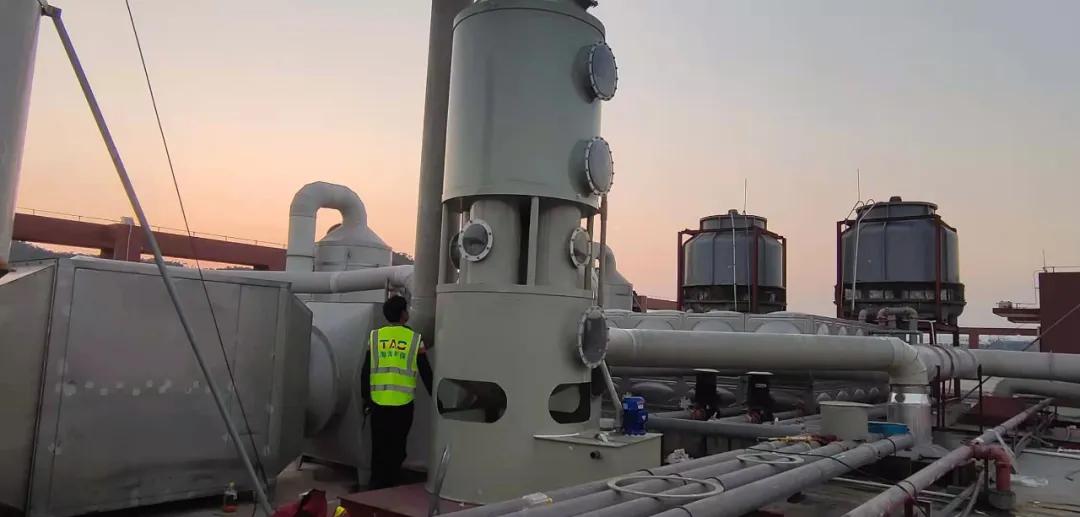 「淘淘环保」现场施工装置喷淋塔管理举措措施
