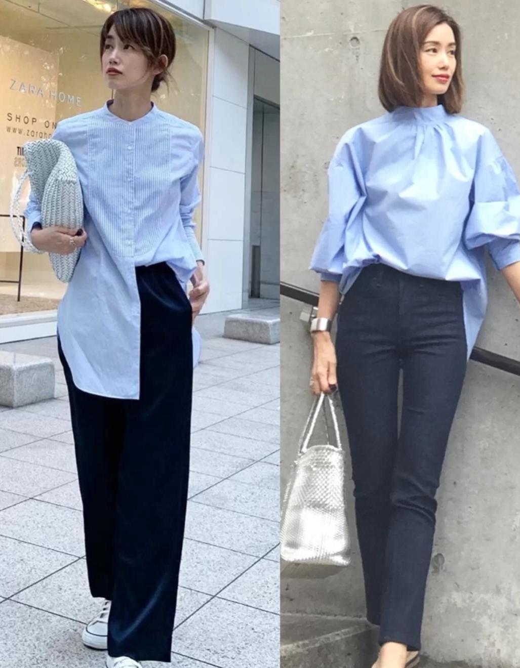 这些盛夏日系穿搭时尚简约,学会一种就很美,瞬间get日式优雅