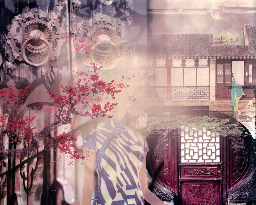 旗袍风尚,2020年海派旗袍流行四大趋势:经典、自然,都市、科技