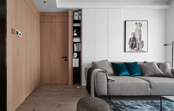 现代风格三房装修,配色简洁素雅,全屋设计时尚不失高级感