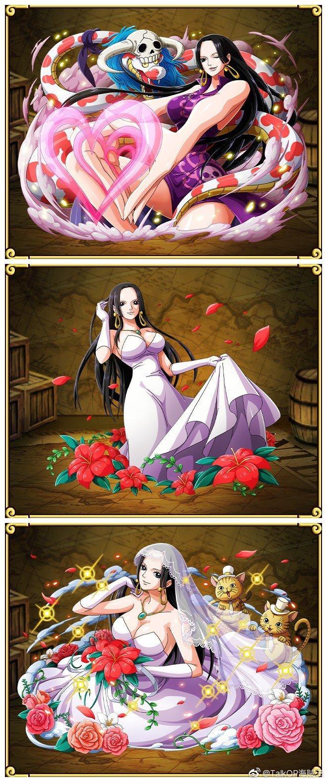 """今天9月2日海贼王中的""""世界第一美女""""女帝博雅·汉库克的生日(现年31岁)"""