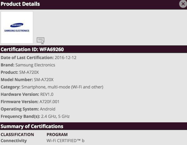 Galaxy A7(2017)曝出:金属材料 夹层玻璃,适用IP68安全防护