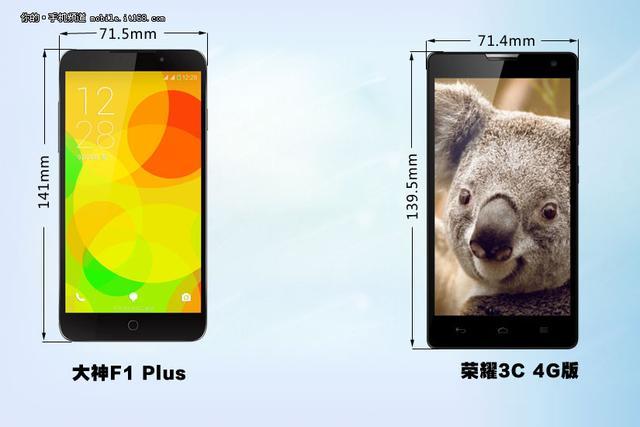 千元4G如何选?大神F1 Plus对比荣耀3C