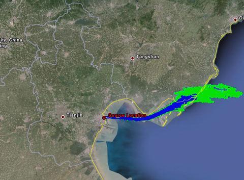 天津爆炸污染物扩散方向解析