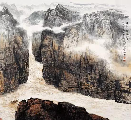 充溢着阳刚之气的山山水水——品读女画家刘淑琴的山水画