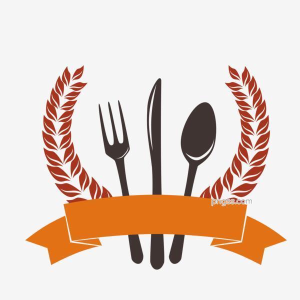 矢量图刀叉勺子缎带麦穗logoPNG搜索网- 精选免抠素材_透明PNG图片分享下载_pngss.com