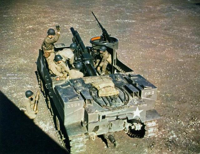 罕见的二战美军欧洲战场彩色照片