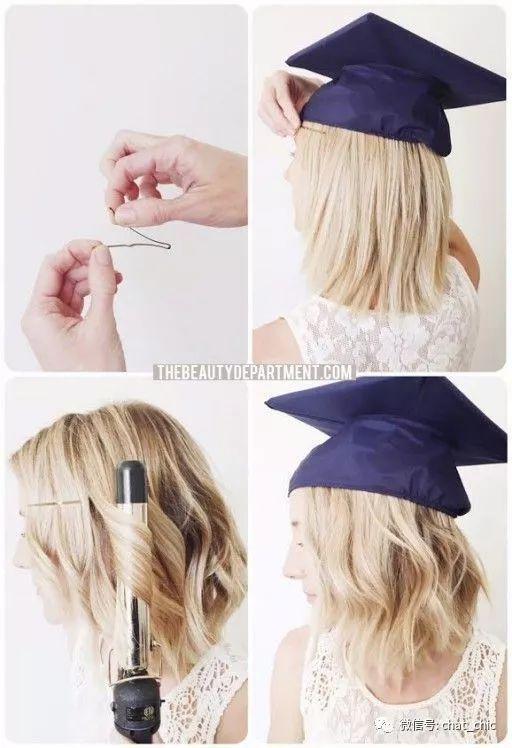 毕业照C位方案:学士帽发型+学士服穿搭