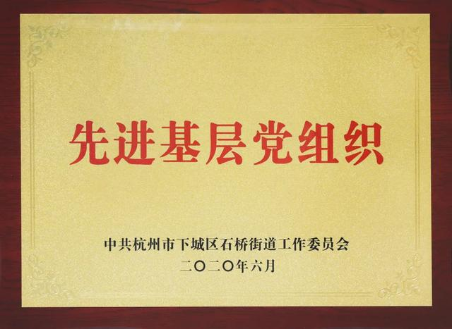 树兰(杭州)医院党委被评为石桥街道先进基层党组织