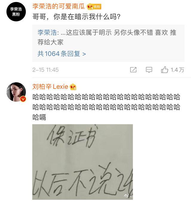 在微博上狂喷刘柏辛和李荣浩的人,大概是吃饱了撑的...