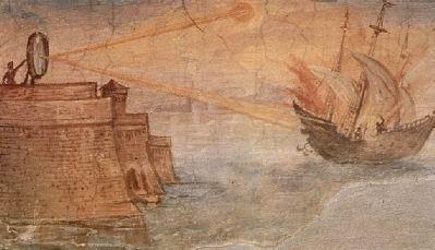 阿基米德用镜子打败罗马是真的吗