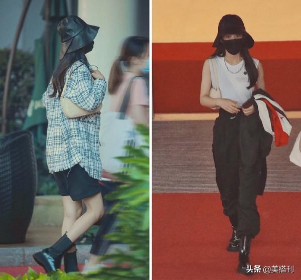 赵丽颖又和杨幂撞衫?最近两套私服都很雷同,戴口罩傻傻分不清