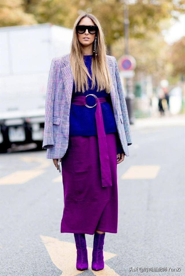 亚洲人难驾驭紫色?在时髦精们的面前,没有什么不可能