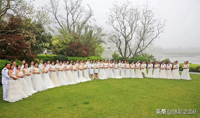 29对新人的浪漫集体婚礼,海军兵哥哥们真的太幸福了!