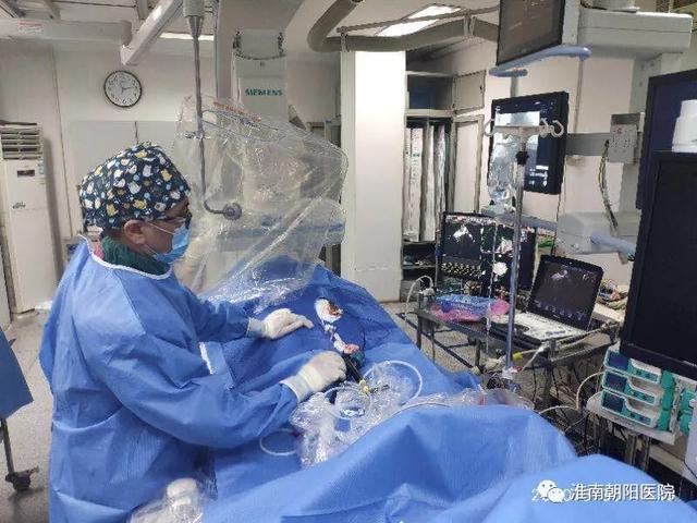 淮南朝阳医院成功完成首例心腔内超声 (ICE) 指导下房颤射频消融手术