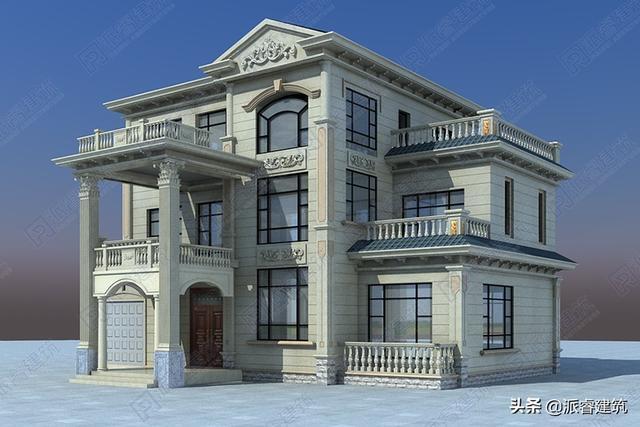 河南周先生,回乡建独栋别墅,堪比欧洲宫廷