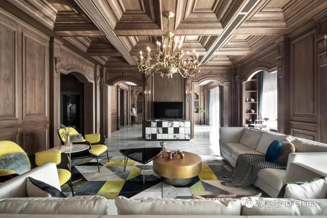 1200平方,古典美式风格别墅设计