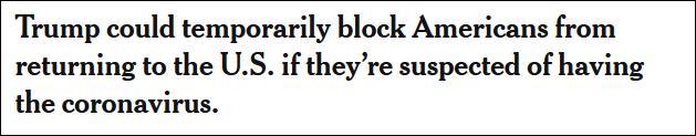 这次自己人也赶?特朗普又开始禁止入境,美国人成漂泊孤儿