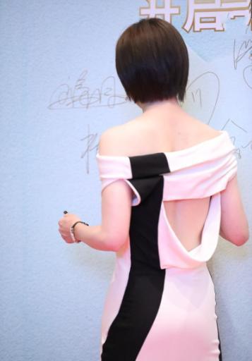 孙俪为走红毯换发型,新发型穿一字肩白裙,错失视后依然温婉动人