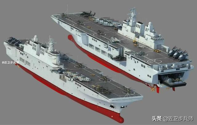 海外看075到076登陆舰:隐身无人机电磁弹射器