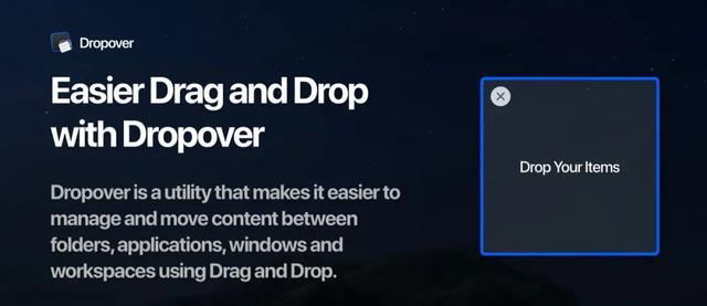 Mac软件推荐 | 桌面暂存文件工具「Dropover」 Mac软件教程 第1张
