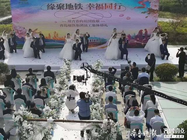 因地铁结姻缘,10对地铁情侣集体婚礼情定终生