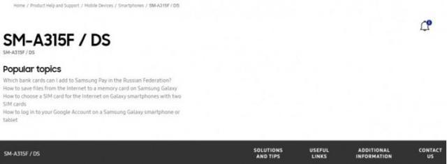 三星Galaxy A31亮相跑分库:联发科Helio P65 4gB运行内存